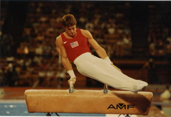 UCLA Gymnast Tim Daggett on pommel horse