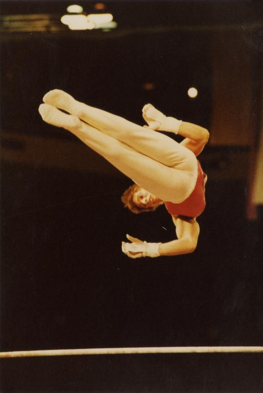 UCLA Gymnast Tim Daggett on high bar