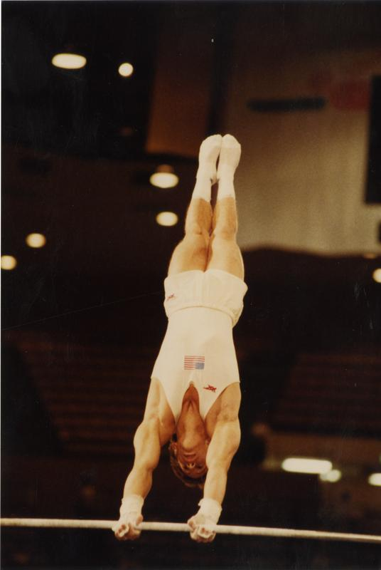 UCLA Gymnast Tim Daggett on high bar