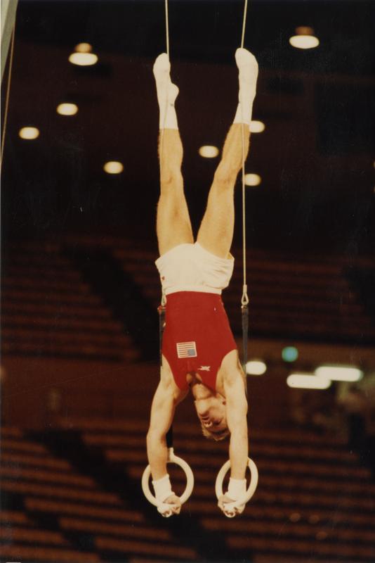 UCLA gymnast Peter Vidmar on rings