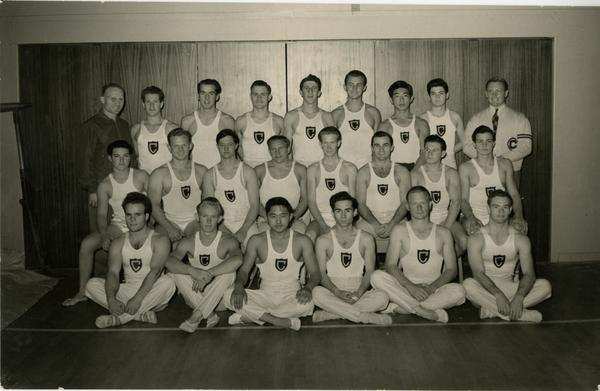UCLA Men's Gymnast Team, ca. 1942