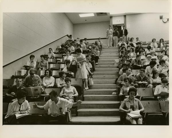 Interior view of room 39 in Haines Hall, ca. 1962