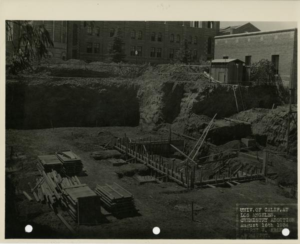View of Haines Hall addition, August 1934