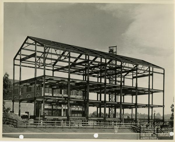 View of Haines Hall addition, September 1934
