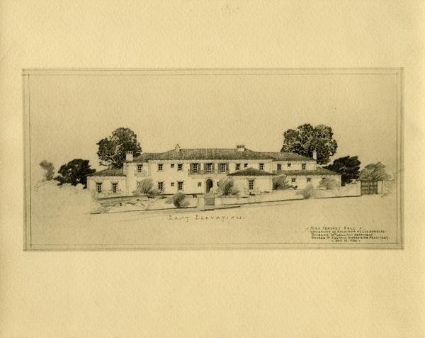 Architectual rendering of Mira Hershey Hall, October 1930