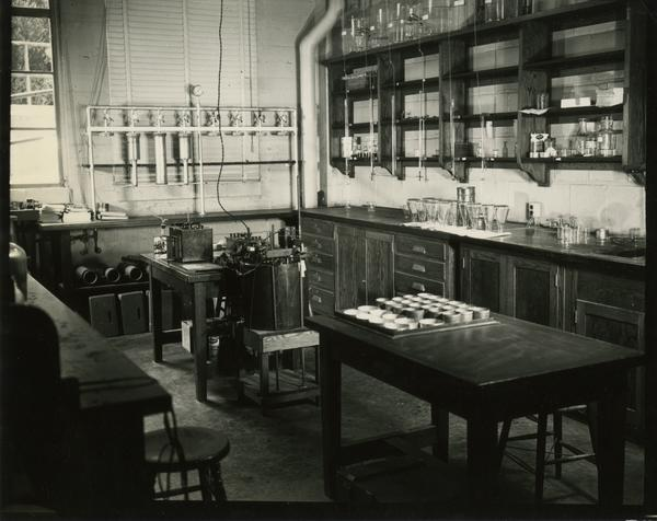 Interior view of Irrigation and Soils Laboratory