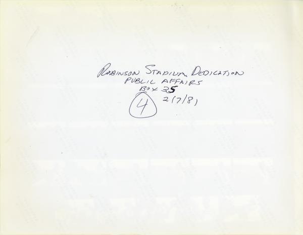 Contact sheet of Jackie Robinson Stadium dedication, February 7, 1981