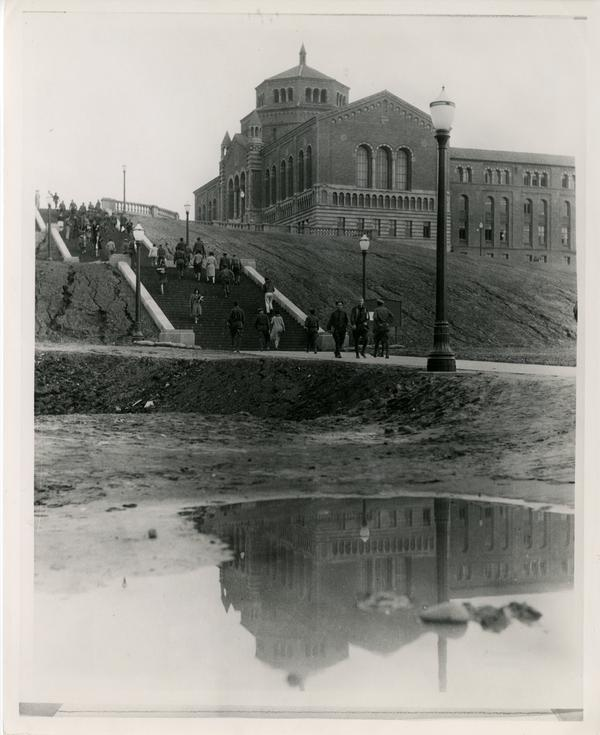 View of Janss Steps and Library
