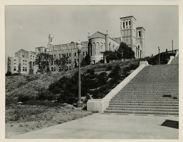 View of Janss Steps and Royce Hall, ca. 1935