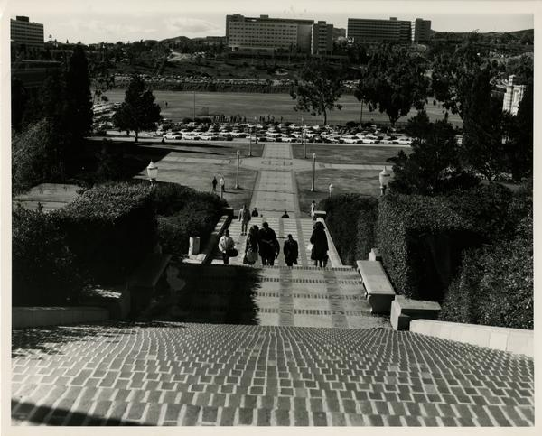 View of Janss Steps and Drake Stadium