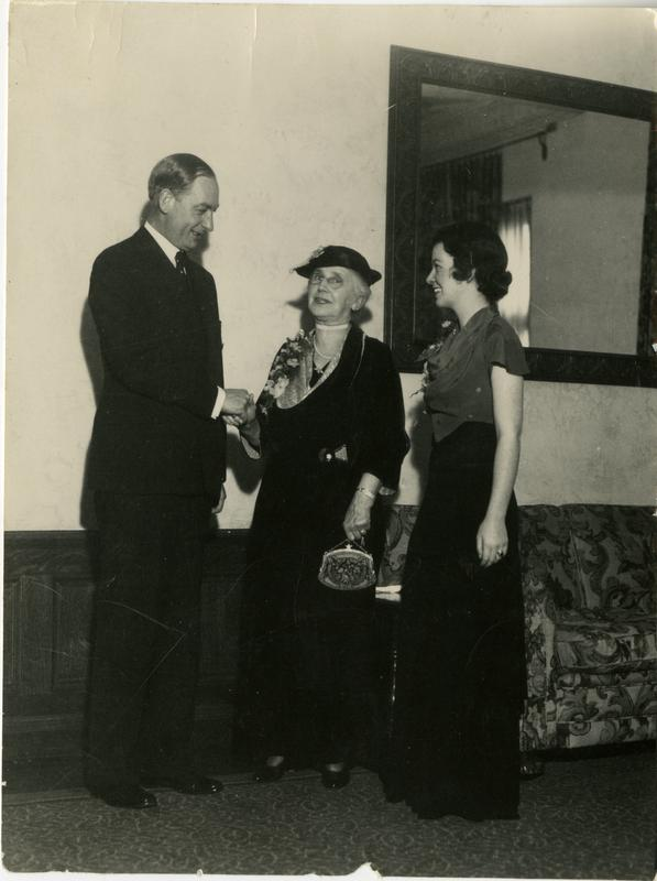 The Kerckhoffs and a UCLA student, January 20, 1931