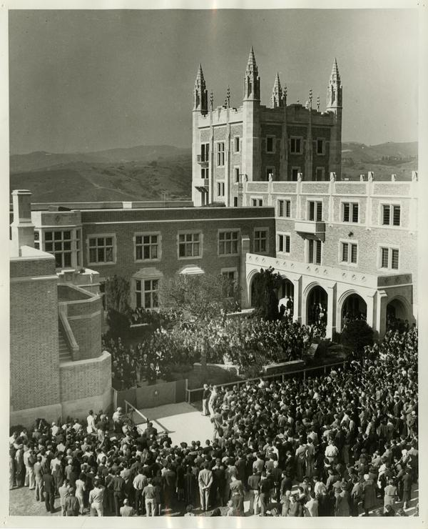 Kerckhoff Hall dedication, January 20, 1931