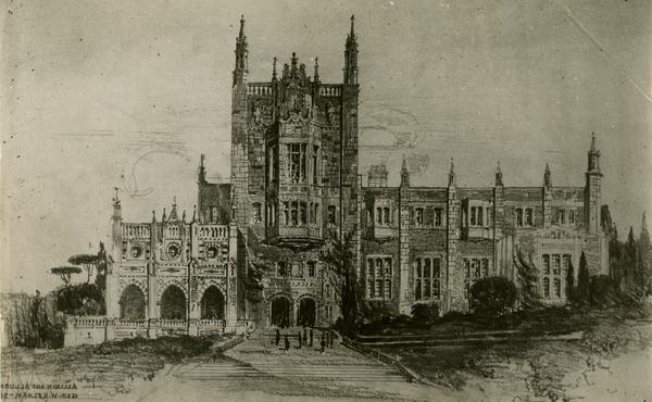 Drawing of Kerckhoff Hall