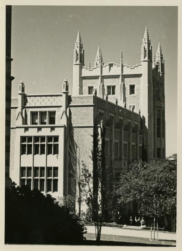 View of Kerckhoff Hall, ca. 1936