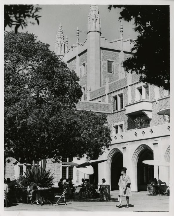 View of Kerckhoff Hall courtyard