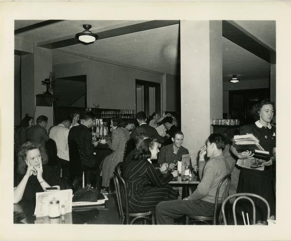 Dining area of Kerckhoff Hall, ca. 1945
