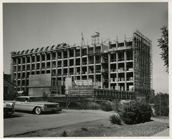 Knudsen Hall under construction, 1962