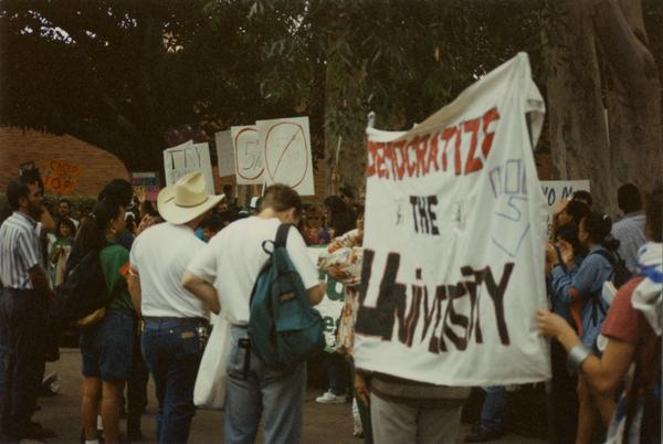 Students at a Labor Union Rally, 1993