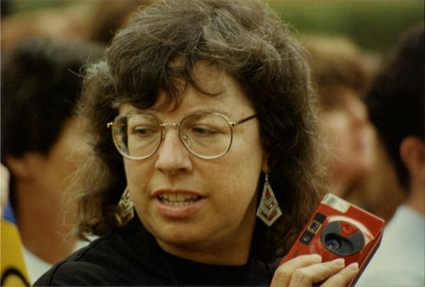 Participant in Labor Union Rally, 1993