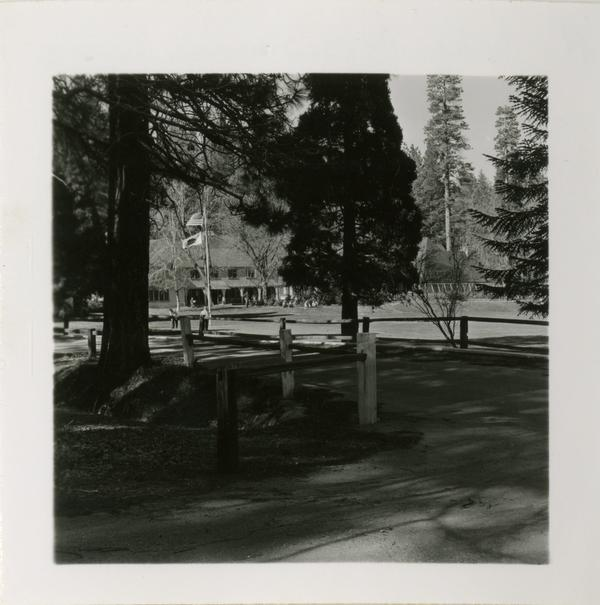 View of Lake Arrowhead Lodge, 1959