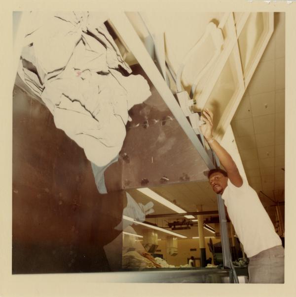 Employee of the UCLA Laundry Facility