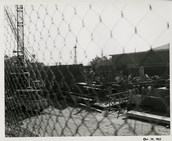 Law School building during construction, October 28, 1965