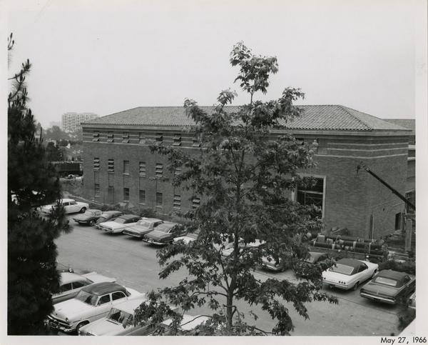 Law School building during construction, May 27, 1966