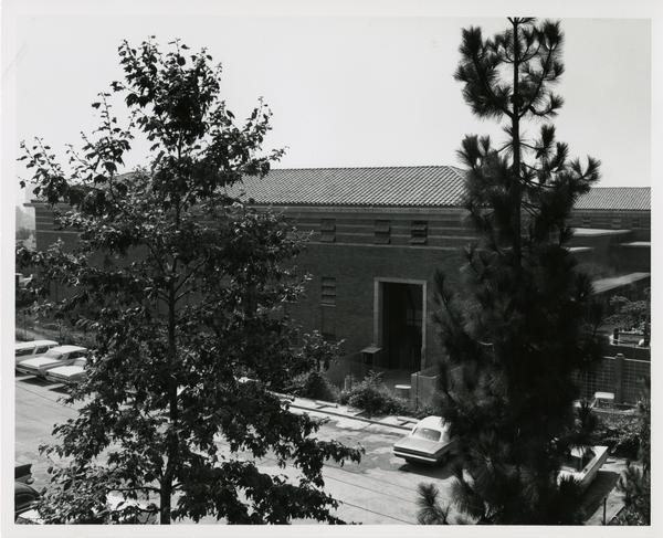 Law School building during construction, August 1, 1966