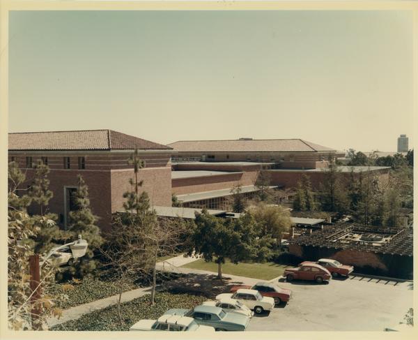 Exterior view of Law School building, ca. 1967