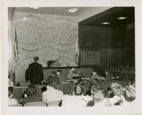 Law School Moot Court, ca. 1952