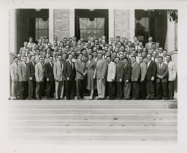 Law School third year class, March 12, 1958
