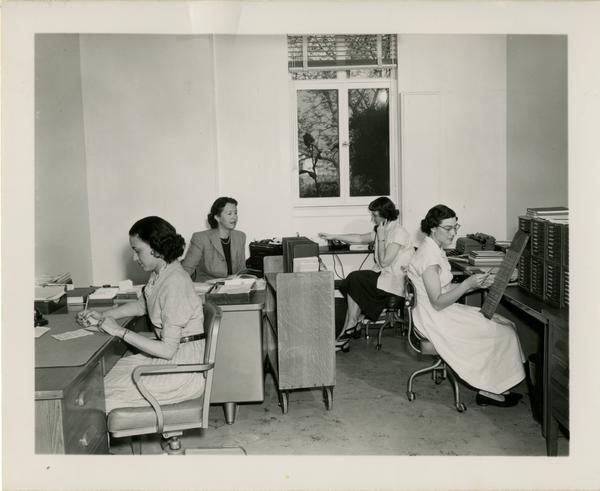 Biomedical Library staff, ca. 1951