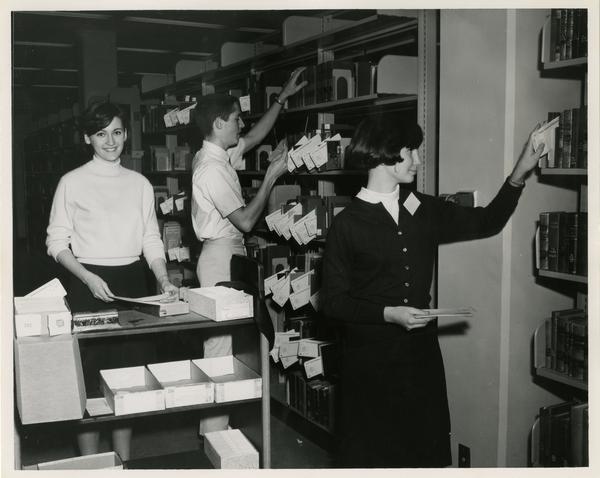 Library circulation staff, ca. 1967
