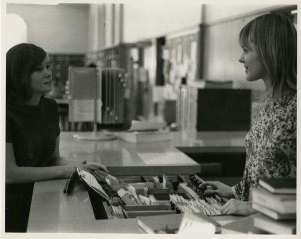 Library circulation staff, ca. 1970