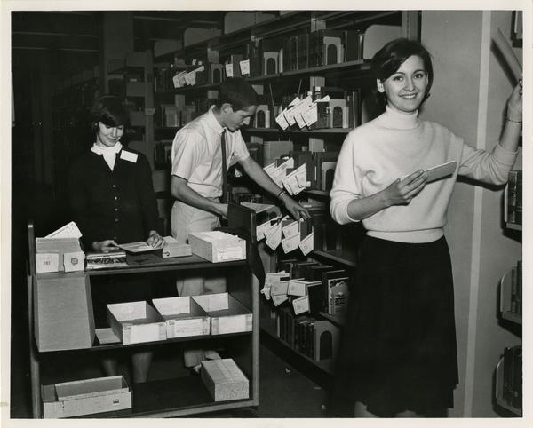 Library circulation staff, ca. 1967