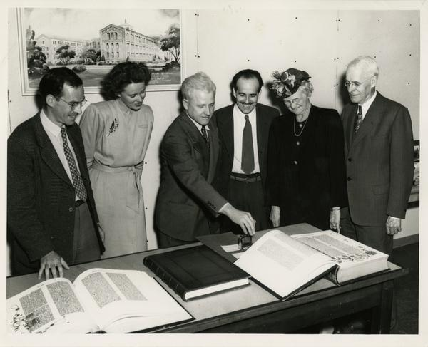 Celebration of accession of 500,000th volume, May 2, 1946