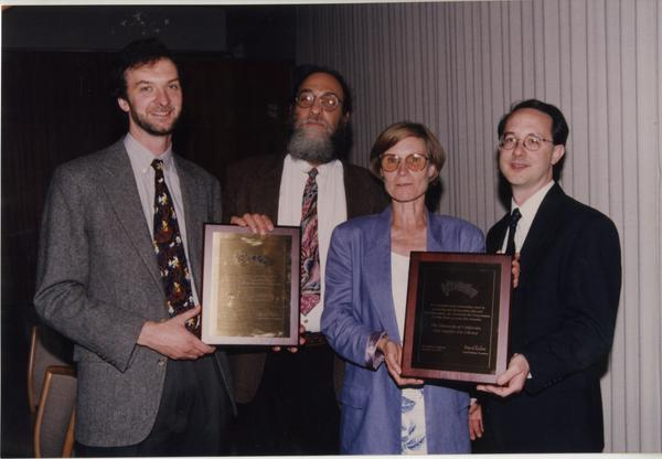 Award-winning librarians from Music Library: Stephen Davison, Gordon Theil, Brigitte Kueppers and Al Willis.