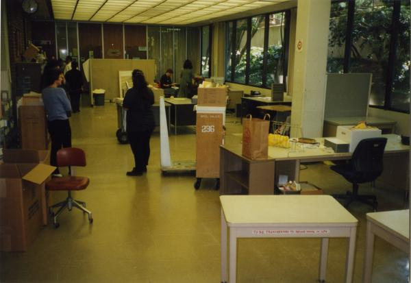 Library Special Collections during renovation