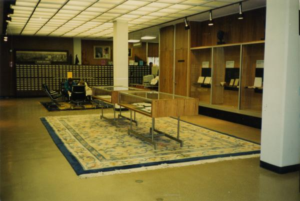 Library Special Collections exhibition area and reference desk