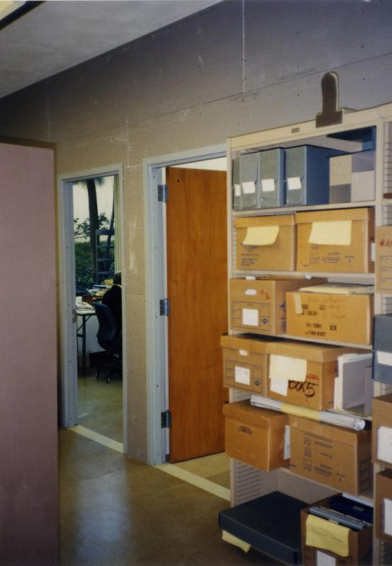 Entrances to offices in Library Special Collections