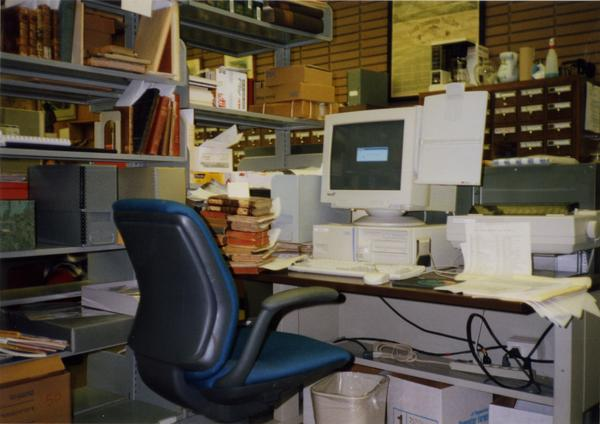 Library Special Collections staff area, ca. 1997