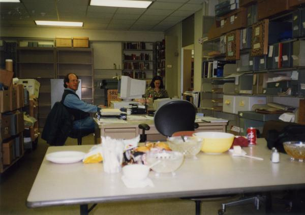 Library Special Collections staff members at work, ca. 1997