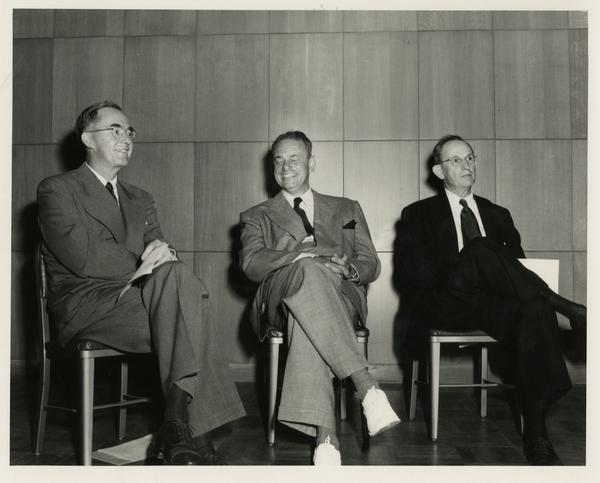 Speakers at Library Special Collection dedication, July 28, 1950