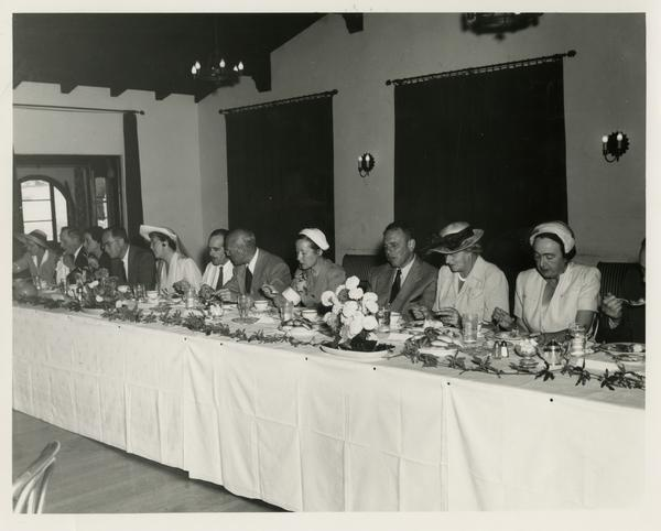Library Special Collections dedication luncheon, July 28, 1950