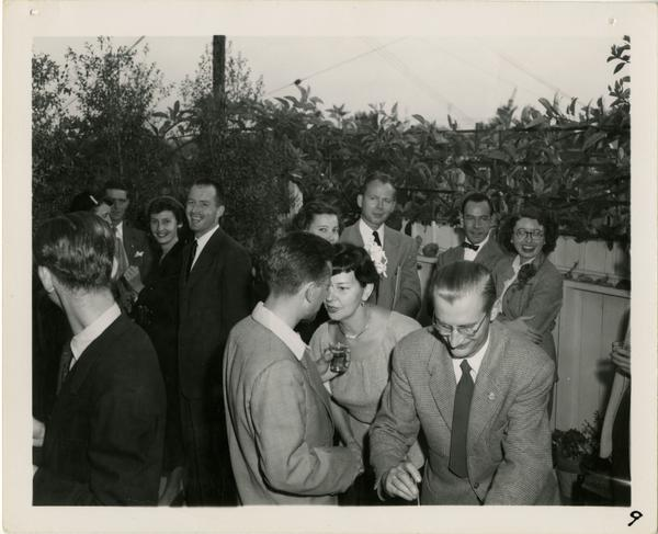 Party given by Lawrence Clark Powell, ca. 1952