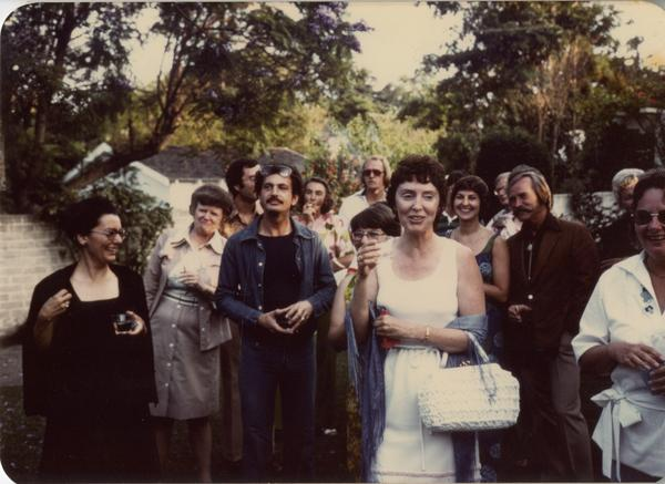 Garden party hosted by Page Ackerman to celebrate the Management Review and Analysis Program, ca.1977