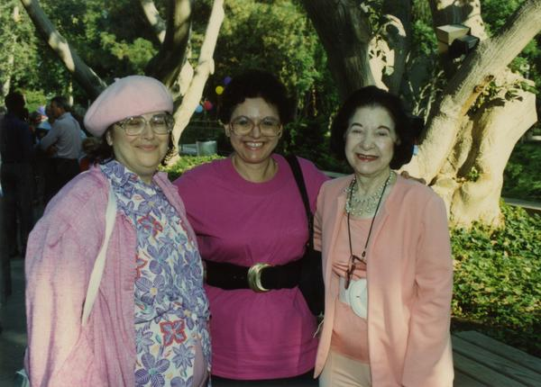 Library staff photo at retirees party, ca. 1991