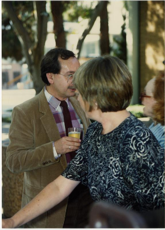 Library staff at a party, ca. 1991