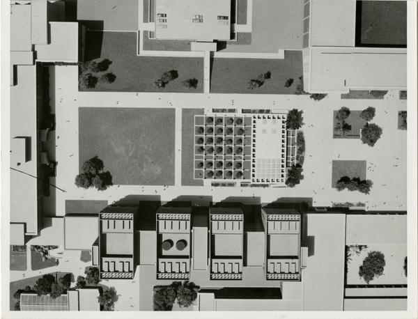Overview of the model of the Life Sciences building