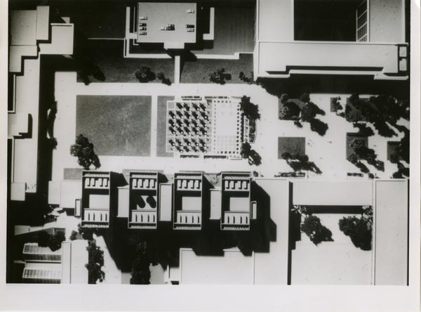 Aerial of the model of the Life Sciences building
